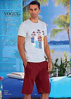 Комплект летний 2-ка футболка с шортами Турция. VOGUE 30015-R. Размер  XL.