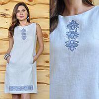Вышитое белое платье