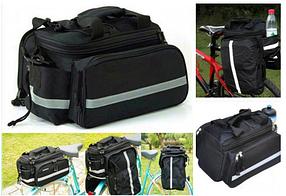 Велосипедная сумка на багажник штаны трансформер shimano