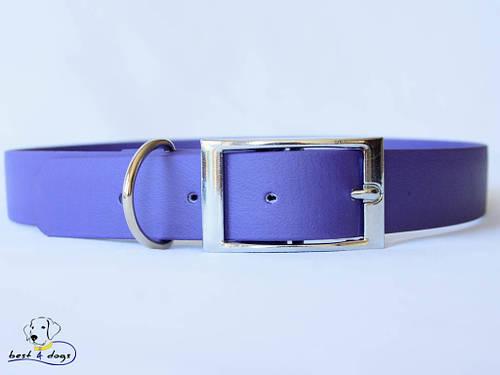 Ошейник из биотана, Фиолетовый, 19мм(пряжка металл)