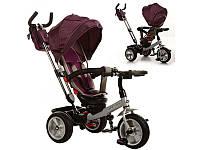 Велосипед трехколесный, надувные колеса, фиолетовый, M3204HA-1