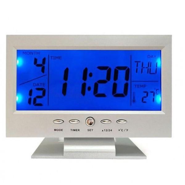 Настольные часы VST 8082 с датчиком хлопка, фото 1
