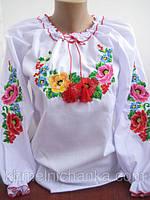 Красивая вышиванка Мальвы для девочки 582