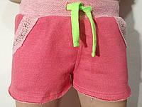 Шорты трикотажные двухнитка для девочки р.140-164 Grace
