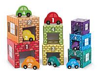 Набор блоков-кубов Автомобили и гаражи Melissa & Doug (MD12435)