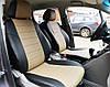 Авточехлы из экокожи черные с бежевым на  Hyundai Getz 1 с 2002-2006г. хэтчбек. 1Выпуск, фото 3