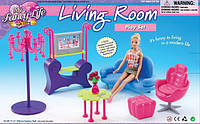 Мебель Gloria для гостинной, диван, кресло, столик, пуфик, телевизор, 2904