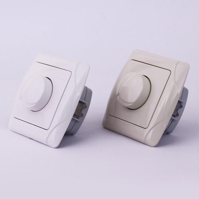 Диммер (Светорегулятор) VIKO Carmen 1000w скрытой установки Белый, Кремовый