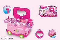 Набор  детский трюмо, машина-каталка, фен, зеркало, аксессуары, 661-126
