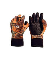 Перчатки неопреновые BS Diver Camolex 5 мм, коричневый камуфляж