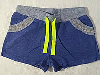 Шорты трикотажные двухнитка для девочки р.140-164 Grace 152, синий