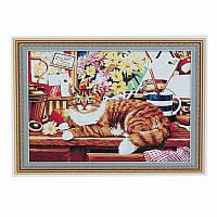 """Картина по номерам """"Кошка"""" 50*65см, 01642"""