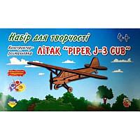 """Конструктор-раскраска деревянный Самолет """"PILPER J-3 CUB"""", 754028"""