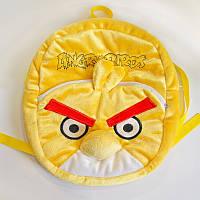 """Рюкзак Злые птицы """"Angry Birds"""" Чак, 2 отделения, желтый, 30*28см, Золушка, 596"""