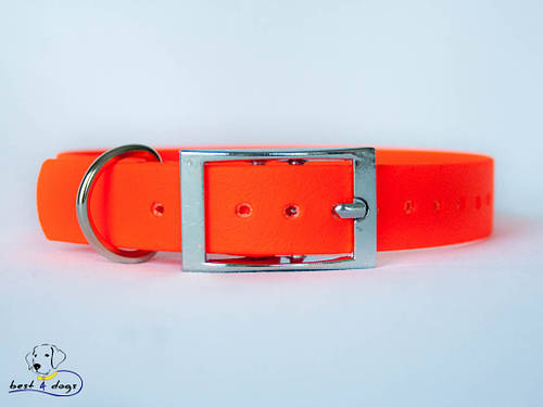 Ошейник из биотана, Оранжевый, 16мм(пряжка металл)