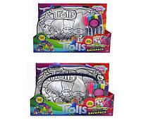 """Сумка-раскраска""""Trolls"""", портфель + фломастеры, 2 вида, JX20253T-1/2"""