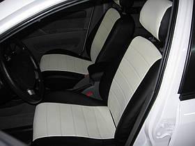 Авточехлы из экокожи черные с белым на  Audi 100 (C 3) с 1982-1991г. седан,универсал