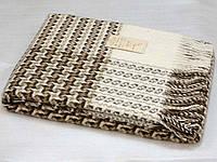 Плед шерстяной Cappuccino 200х220см (бежевый, коричневый) ТМ Vladi, 2320