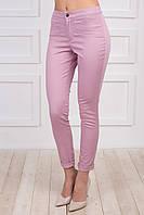 Молодежные женские брюки с манжетами укороченные