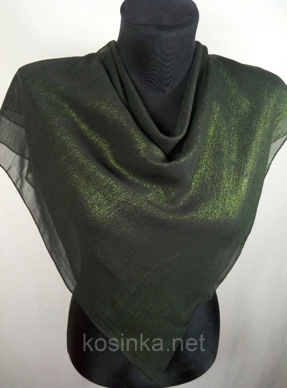 Жіночий зелений хустку з напиленням №248 (кол.2)
