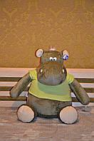 Мягкая игрушка большой Бегемотик 100 см.Игрушка бегемот Темно-Зеленый