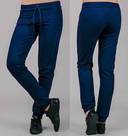 Женские трикотажные штаны Классика (темно-синие)