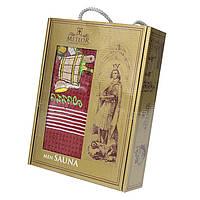 Полотенце для сауны вафельное Nilteks Sauna Cotton 1*75х150, бордо, 4060_nilteks_sauna_men_re