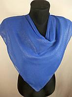 Женский синий платок с напылением №248 (цв.6)