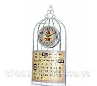 Красивые настенные металлические часы с календарем