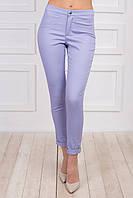 Молодежные брюки женские светлые на лето