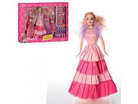 Кукла с нарядом 29см, платья 4шт, обувь, аксессуары, 60816S
