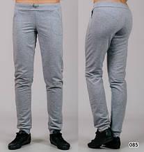 Жіночі трикотажні штани Класика (світло-сірі)