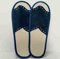 Тапочки одноразовые, мужские, размер 39-44, синие, TM Etto