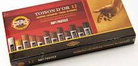 Мелки-пастель 8522В T.D'OR 12шт коричневые оттенки Koh-I-Noor