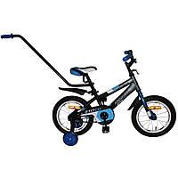 """Велосипед Аzimut Stitch 14"""" с родительской ручкой"""