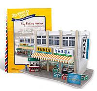 """Трёхмерный конструктор-головоломка 3D-пазл """"Тайвань. Рыбный рынок"""", CubicFun, W3162h"""