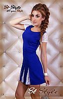 Платье ласточка синее  1р10/41