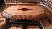 Стол плетеный большой кофейный, фото 1