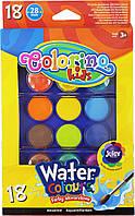 Краски акварельные большие таблетки 18 цв.COLORINO, 54737PTR