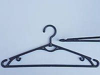 Плечики вешалки тремпеля, лето черного цвета, длина 39 см,