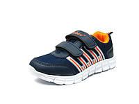 Обувь. Детские спортивные кроссовки Clibee K-119. Синий+Оранж.