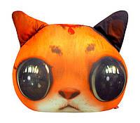 """Антистрессовая игрушка мягконабивная """"SOFT TOYS """"Кіт глазастий"""" рыжий, 40*30см(DT-ST-01-01)"""