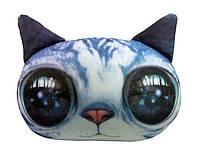 """Антистрессовая игрушка мягконабивная """"SOFT TOYS """"Кіт глазастий"""" серый, 40*30см(DT-ST-01-02)"""