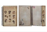 """Блокнот """"Рэтро стиль"""", с конвертом и ручкой, в коробке, дизайн, 120 лист.(NP(48K)-G-01)"""