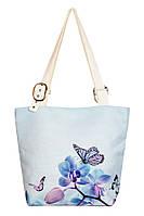 Сумка текстильная Голубая Орхидея