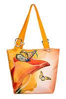 Сумка текстильная Оранжевая Калла, фото 1