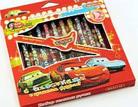 Набор ручек гель CARS 187 12цв Блестки+ аромат фруктов