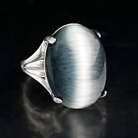 Кошачий глаз, серебро 925, кольцо, 410КК
