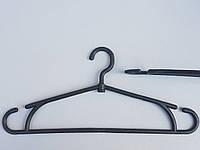 Плечики вешалки тремпеля, зима черного цвета, длина 40 см