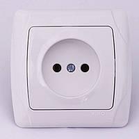 Розетка електрична VIKO Carmen прихованої установки одинарна без заземлення (біла)